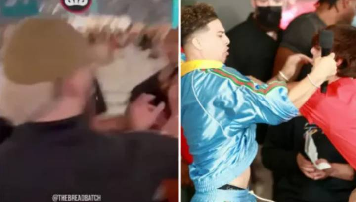 Footage Emerges Of Bryce Hall And Austin McBroom Clashing At Floyd Mayweather vs Logan Paul Fight