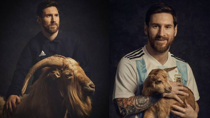 Lionel Messi Posing With Another GOAT Is The Greatest Photoshoot We've Ever Seen