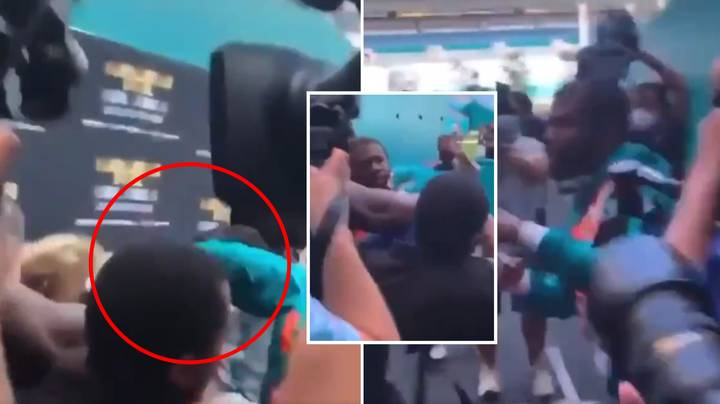 Floyd Mayweather Landed A Clean Shot On Jake Paul In Crazy Miami Melee
