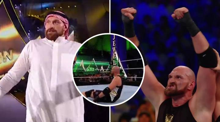 Tyson Fury Beats Braun Strowman At WWE Crown Jewel