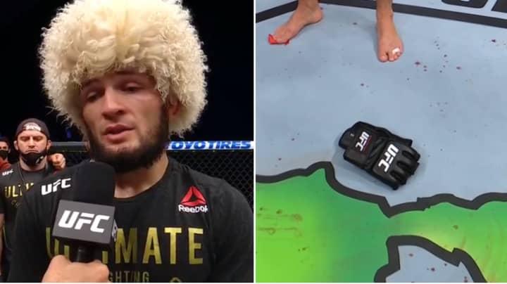 Khabib Nurmagomedov Retires From MMA After Beating Justin Gaethje At UFC 254