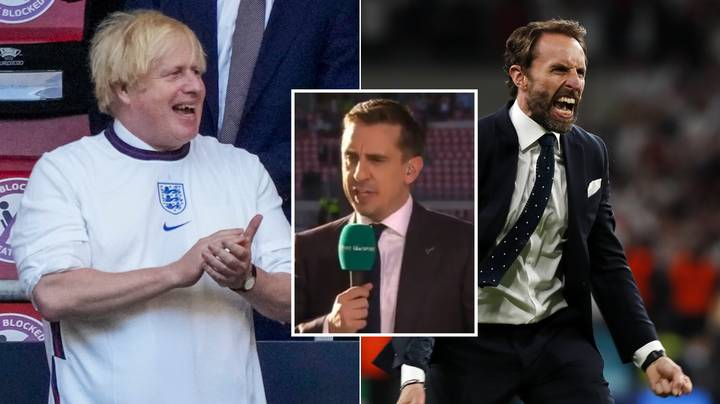 Gary Neville Aims Brutal Dig At Boris Johnson After England Reach Euro 2020 Final