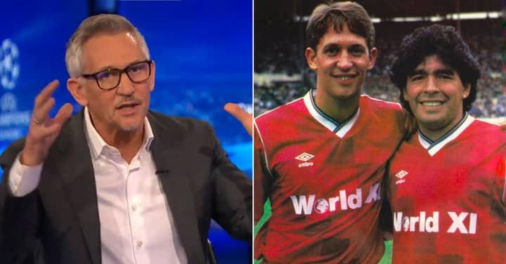 Gary Lineker Shares Heartfelt Story Of Playing Alongside Diego Maradona
