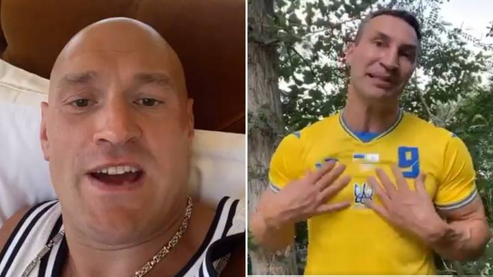 Tyson Fury Savagely Mocks Rival Wladimir Klitschko With England vs Ukraine Message