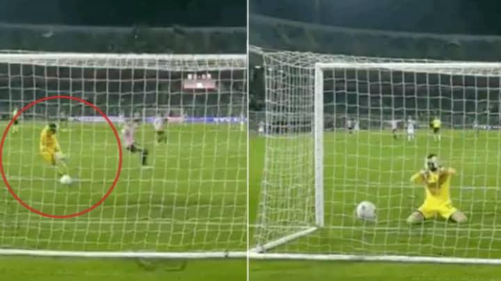 Ascoli Goalkeeper Filippo Perucchini Literally Dribbles The Ball Into His Own Net