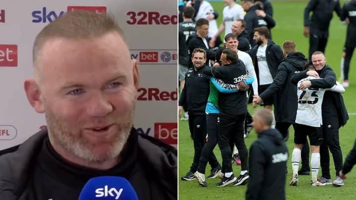 Wayne Rooney Reveals His Inspiring Half-Time Team Talk As Derby Avoid Relegation