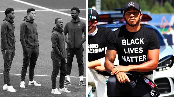 Lewis Hamilton Sends Powerful Anti-Racism Message After England Players Cop Vile Abuse