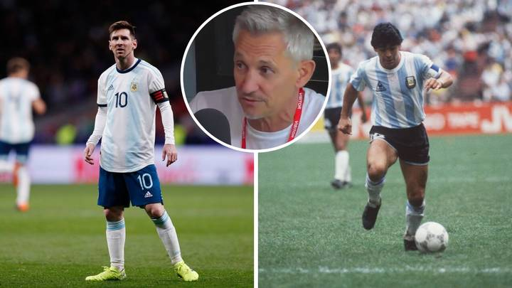 Gary Lineker Gives His Opinion On Lionel Messi VS Diego Maradona Debate