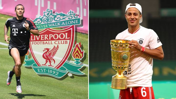 Liverpool Fans Think Thiago Dropped 'Cheeky' Transfer Hint After Bayern Munich's Cup Final Victory