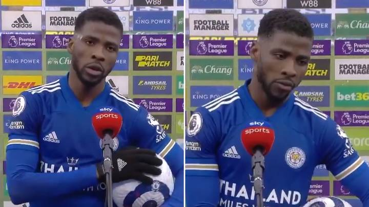 Kelechi Iheanacho Dedicates Hat-Trick To Mothers Around The World In Emotional Post-Match Interview
