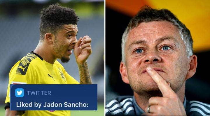 Jadon Sancho Hints At Manchester United Transfer By Liking Tweet