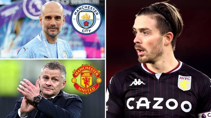 Aston Villa Star Jack Grealish 'Shifts Preference' Over Man City Or Man United Transfer This Summer