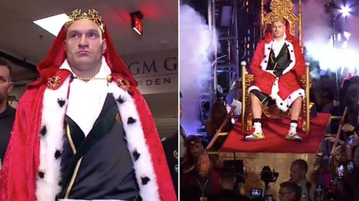 Tyson Fury Carried To The Ring On A Throne
