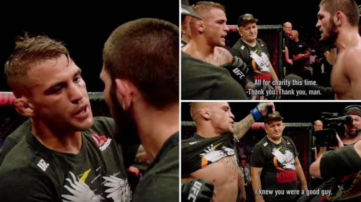 Khabib Nurmagomedov And Dustin Poirier's Classy Post-Fight Exchange At UFC 242 Is Going Viral Again