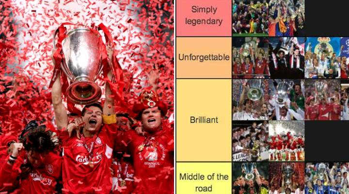 Every Champions League Winning Team Ranked From 'Simply Legendary' To 'Better Forgotten'