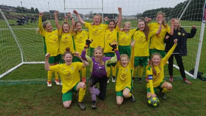 All-Girls U12 Football Team Become The First In Britain To Win Boys League