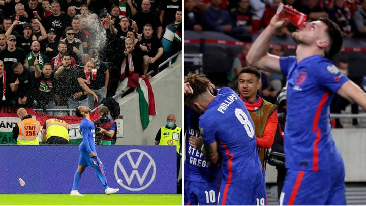 Hungary Fans Pelt England Players With Plastic Cups, Declan Rice Drinks From One Of Them