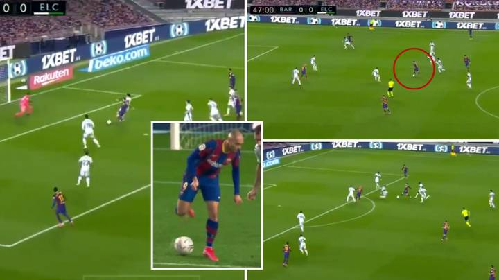 Lionel Messi Starts And Finishes Brilliant Attack After No-Look Backheel Assist From Martin Braithwaite