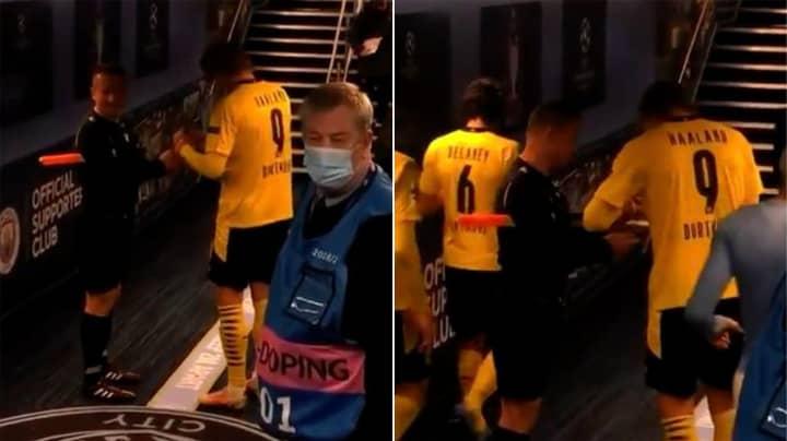 Linesman Got Erling Haaland's Autograph After Borussia Dortmund's Champions League Match