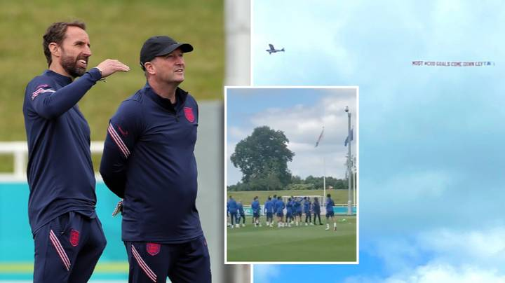 A Plane Flies Over England Training Session With Tactical Advice For Upcoming Clash Against Croatia