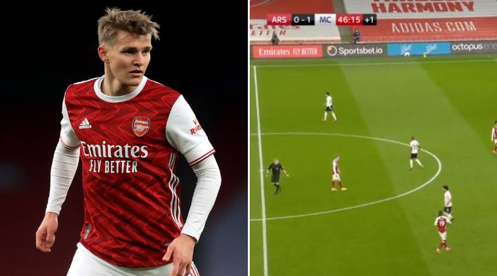 Arsenal Fans Angry That Players Won't Pass To Martin Odegaard Vs Manchester City