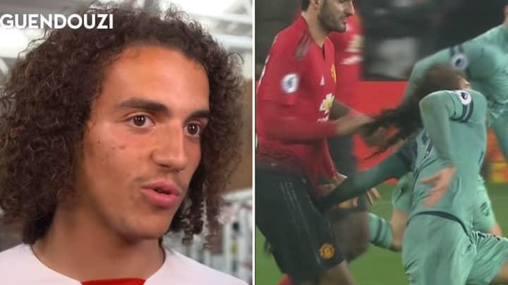 Matteo Guendouzi Hilariously Reacts To Marouane Fellaini Pulling His Hair