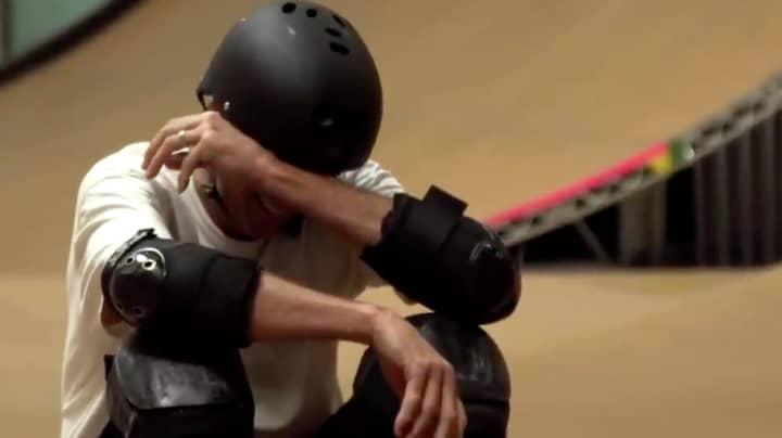 Emotional Tony Hawk Breaks Down In Tears After Nailing Last Ever Trick