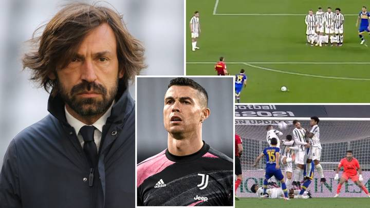 Andrea Pirlo Sends Warning To Cristiano Ronaldo After SECOND Costly Mistake In Juventus Free-Kick Wall