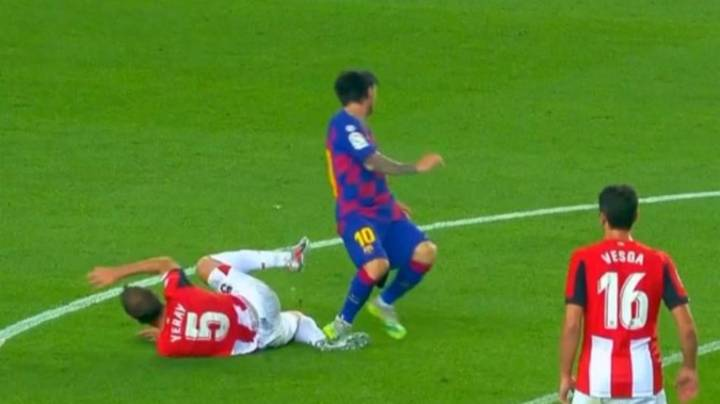 Lionel Messi Very Lucky To Escape A Red Card During Barcelona Vs. Athletic Bilbao