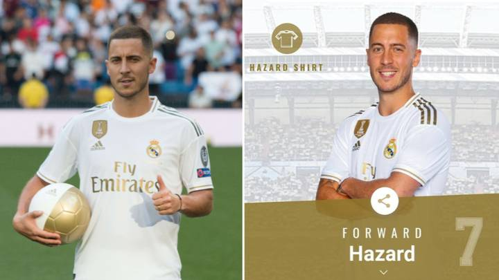 Eden Hazard Given Real Madrid's Iconic No.7 Shirt