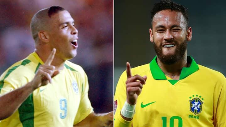 Neymar Scores Hat-Trick To Move Past Ronaldo Nazario In Brazil Top Scorers List