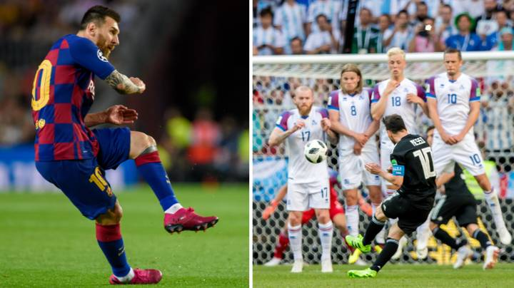 The Mindblowing 'Sprained Ankle' Free-Kick Technique Lionel Messi Has Developed