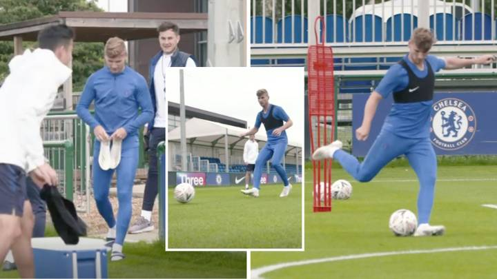 First Footage Of Timo Werner In Chelsea Training Emerges Online