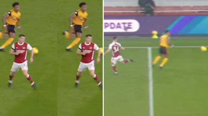 Wolves Rinse Granit Xhaka's Defending Against Adama Traore In Brutal Tik-Tok