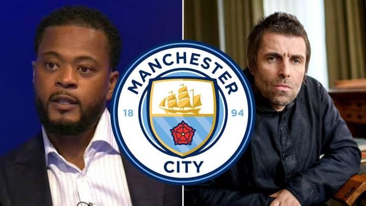 Patrice Evra Sends Manchester City Fan Liam Gallagher Hilarious Champions League Message