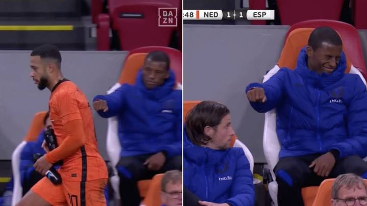 Gini Wijnaldum's Priceless Reaction To Being Blanked By Netherlands Teammate Memphis Depay