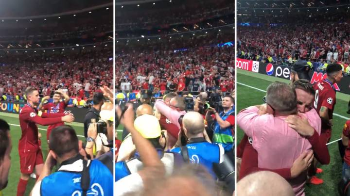 Jordan Henderson's Tearful Embrace With His Dad After Winning The Champions League
