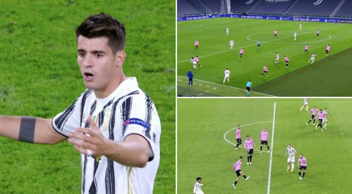 Juventus Star Alvaro Morata Has Three Goals Ruled Out For Offside Against Barcelona