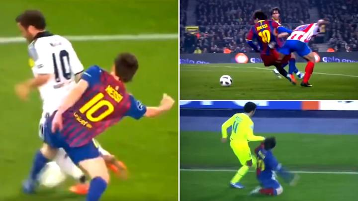Compilation Of Lionel Messi Being 'The World's Best Defender' Laughs At 'Lazy' Myth