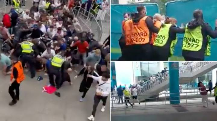 Footage Shows England Fans Storming Past Stewards To Get Into Wembley For Euro 2020 Final