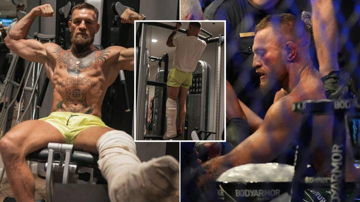 Conor McGregor Is Already Back In The Gym After Surgery On Broken Leg