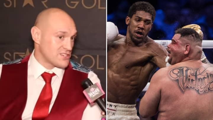 Tyson Fury Finally Reacts to Anthony Joshua Beating Andy Ruiz Jr