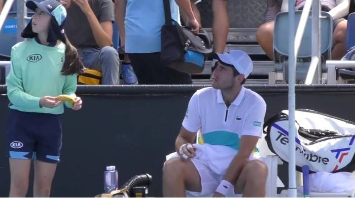 Tennis Player Elliot Benchetrit Defends Himself After Asking Ballgirl To Peel Banana