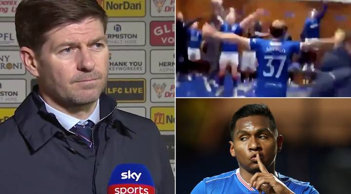 Steven Gerrard Hilariously Reveals Alfredo Morelos Was Dancing Topless To Sweet Caroline After Scoring Winner