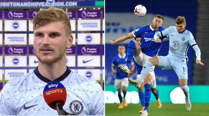 Timo Werner's Response To Playing Against Brighton Defenders In Chelsea's 3-1 Win Is Just Brilliant