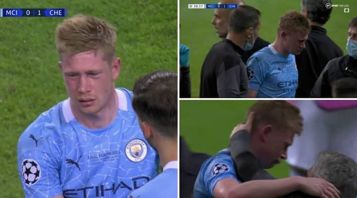 Kevin De Bruyne Leaves Champions League Final In Tears With Black Eye