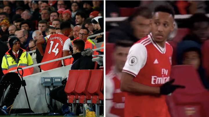 Pierre-Emerick Aubameyang Casually Went To The Toilet During Arsenal Vs Brighton