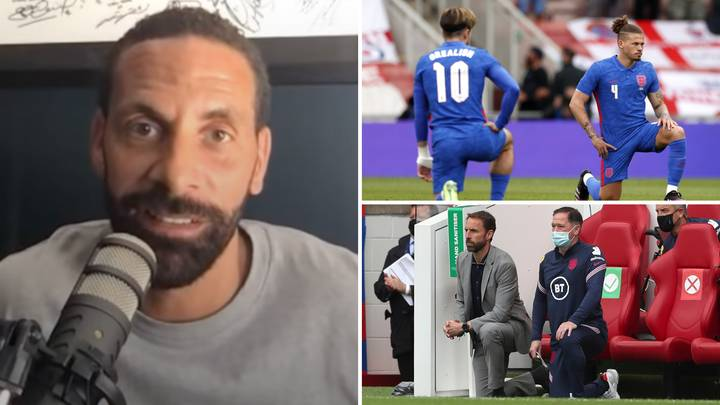 Man United Legend Rio Ferdinand Blasts 'Ignorant' England Fans For Booing Players Who Take The Knee