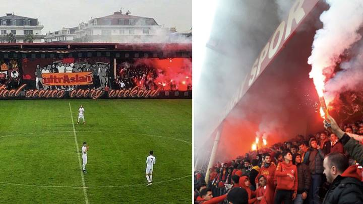 The Scenes From Galatasaray's U19's Game Earlier Is Actually Insane