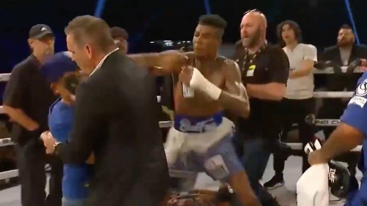 Rapper Blueface Punches Fan Who Got Into The Ring And Went For Him After Exhibition Fight